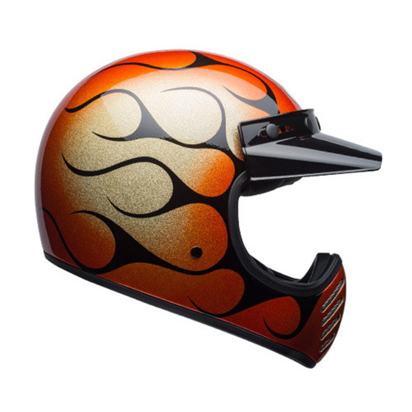 BELL MOTO-3 SPECIAL  CHEMICAL CANDY FLAMES ORANGE/BLACK