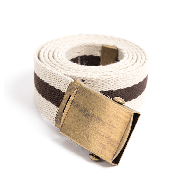 WILDBRICKS - MILITARY WEBBING BELT (iv/br)