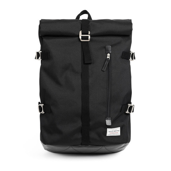 WILDBRICKS - ROLL-TOP BACKPACK (black)