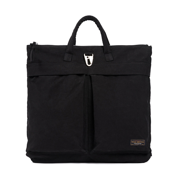 WILDBRICKS - WAXED HELMET BAG (black)