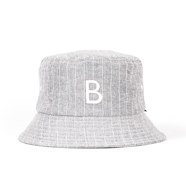 WILDBRICKS - STRIPE BUCKET HAT (grey)