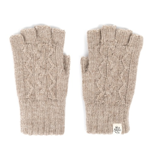 [와일드브릭스 장갑] WILDBRICKS - CABLE FINGERLESS GLOVES (beige)