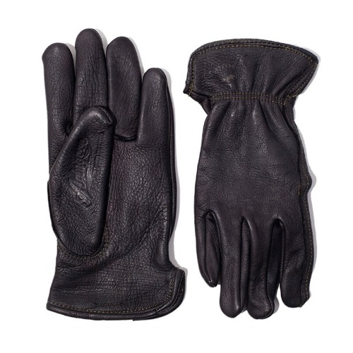 AGINGCCC X CAIMAN KOREA - HAND DYEING DRIVERS GLOVES-BLACK