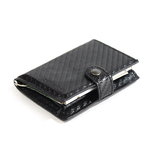 [쿄레프로젝트 카드지갑] KJøRE PROJECT - ICLUTCH WALLET  CARBON BLACK