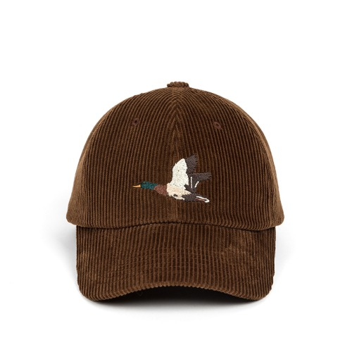 [와일드브릭스] WILD BRICKS - CORDUROY MALLARD CAP (brown)