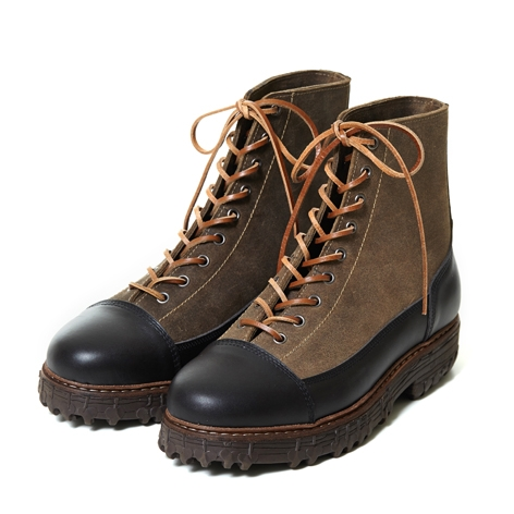 [더클랙슨 라이더 패션 부츠] THE KLAXON - FALCONRY BOOTS COMBI KHAKI