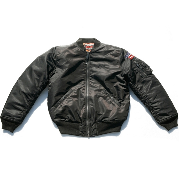 [15% SALE] [쇼트뉴욕 항공점퍼] Schott N.Y.C. - MA-1 Patriot Jacket - Black