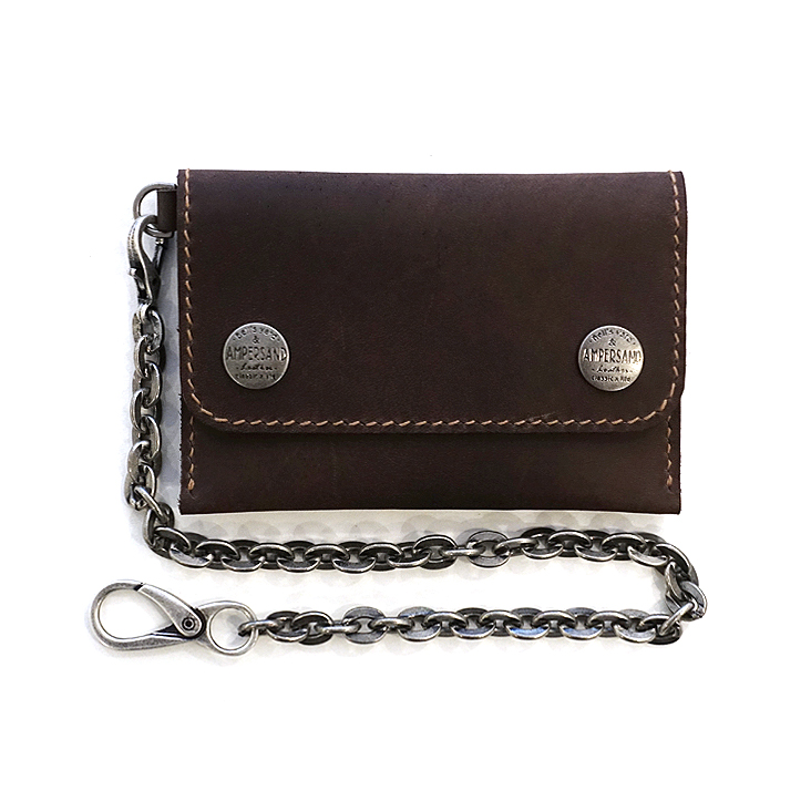 [20%SALE] AMPERSAND LEATHER TRUCKER WALLET - BROWN