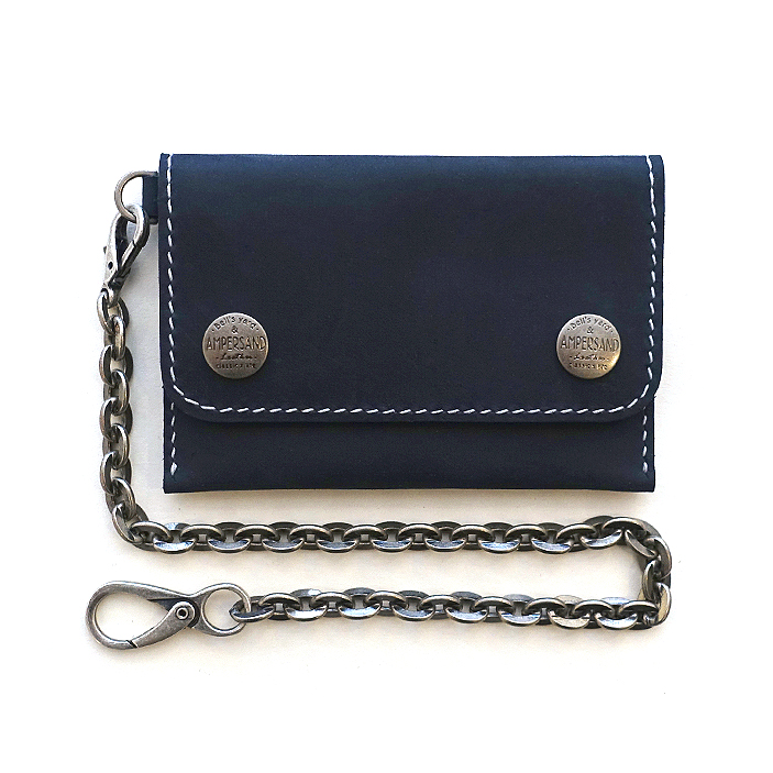 [앰퍼센드 미니트러커 지갑] AMPERSAND LEATHER TRUCKER WALLET - NAVY