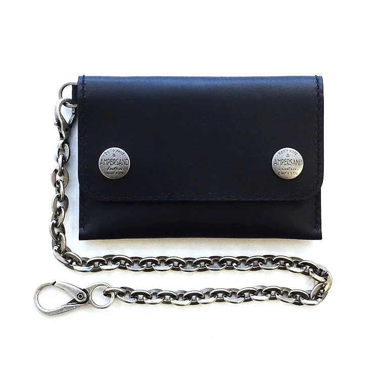 [20% SALE] AMPERSAND LEATHER TRUCKER WALLET VEGETABLE - BLACK