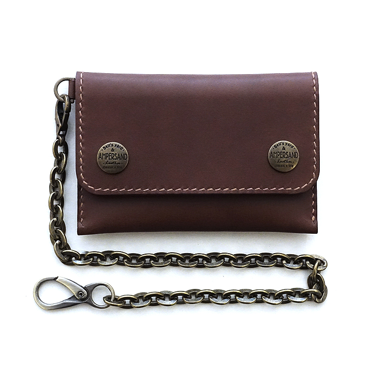 [앰퍼센드 미니트러커 지갑] AMPERSAND LEATHER TRUCKER WALLET VEGETABLE - BLOWN