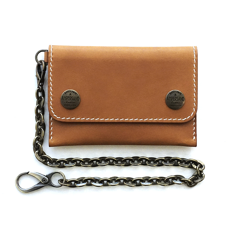 [20% SALE] AMPERSAND LEATHER TRUCKER WALLET VEGETABLE - TAN