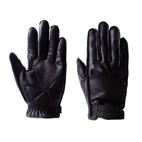 LIVERTY GOAT SKIN VENT GLOVES - BLACK