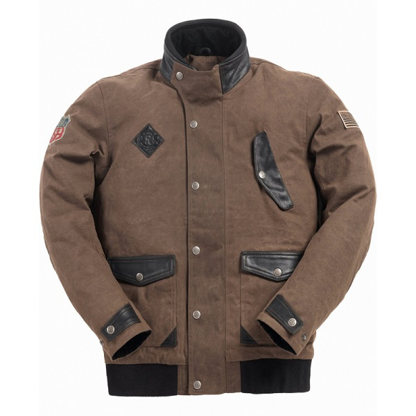 Ride & Sons Runaway Waxed Cotton Jacket - Brown