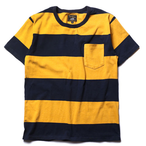 Border Tee -Yellow&Navy