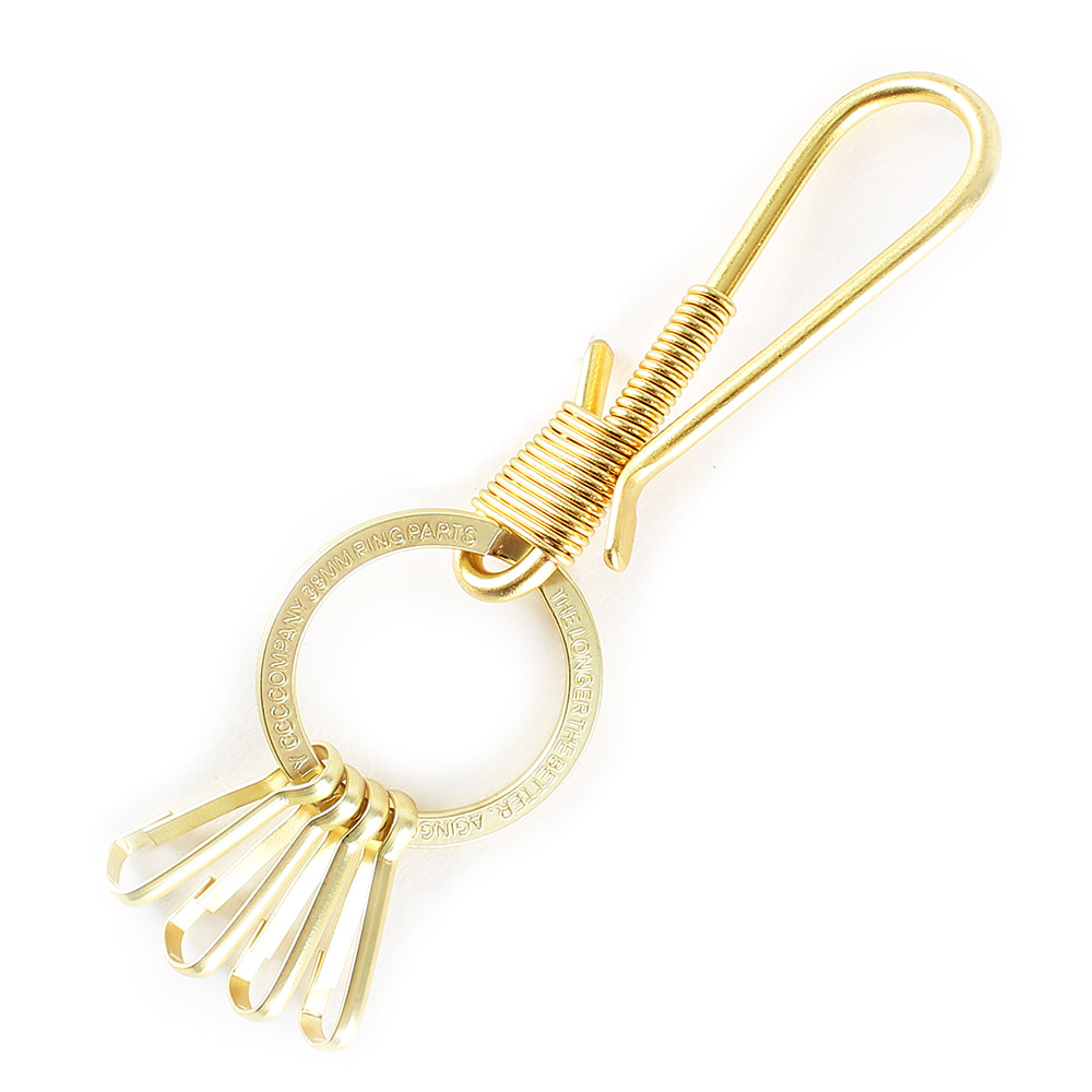 AGINGCCC - 36# 'SOLIDBRASS' KEY RING