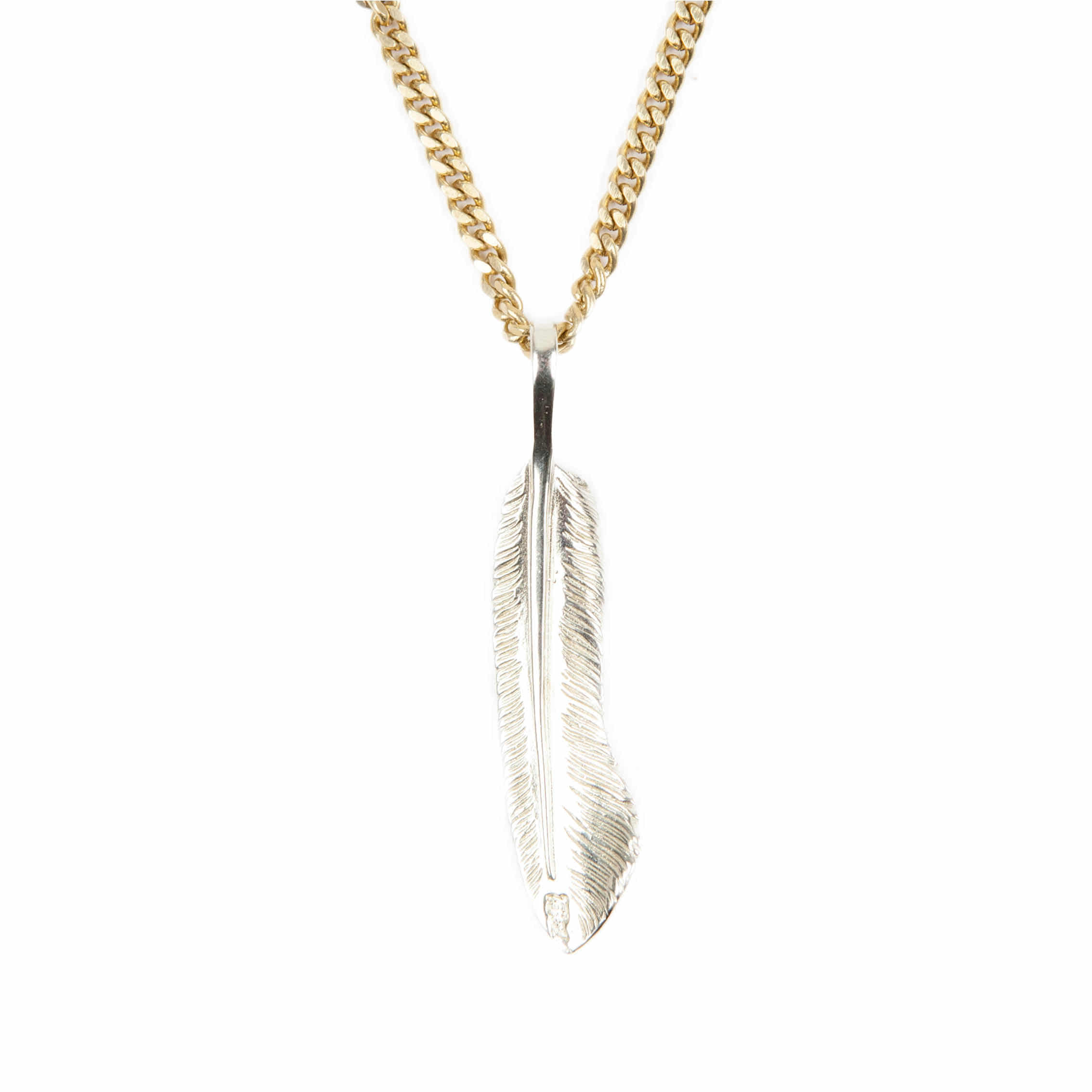 AGINGCCC - 255# SOLIDBRASS FEATHER NECKLACE-NO.2