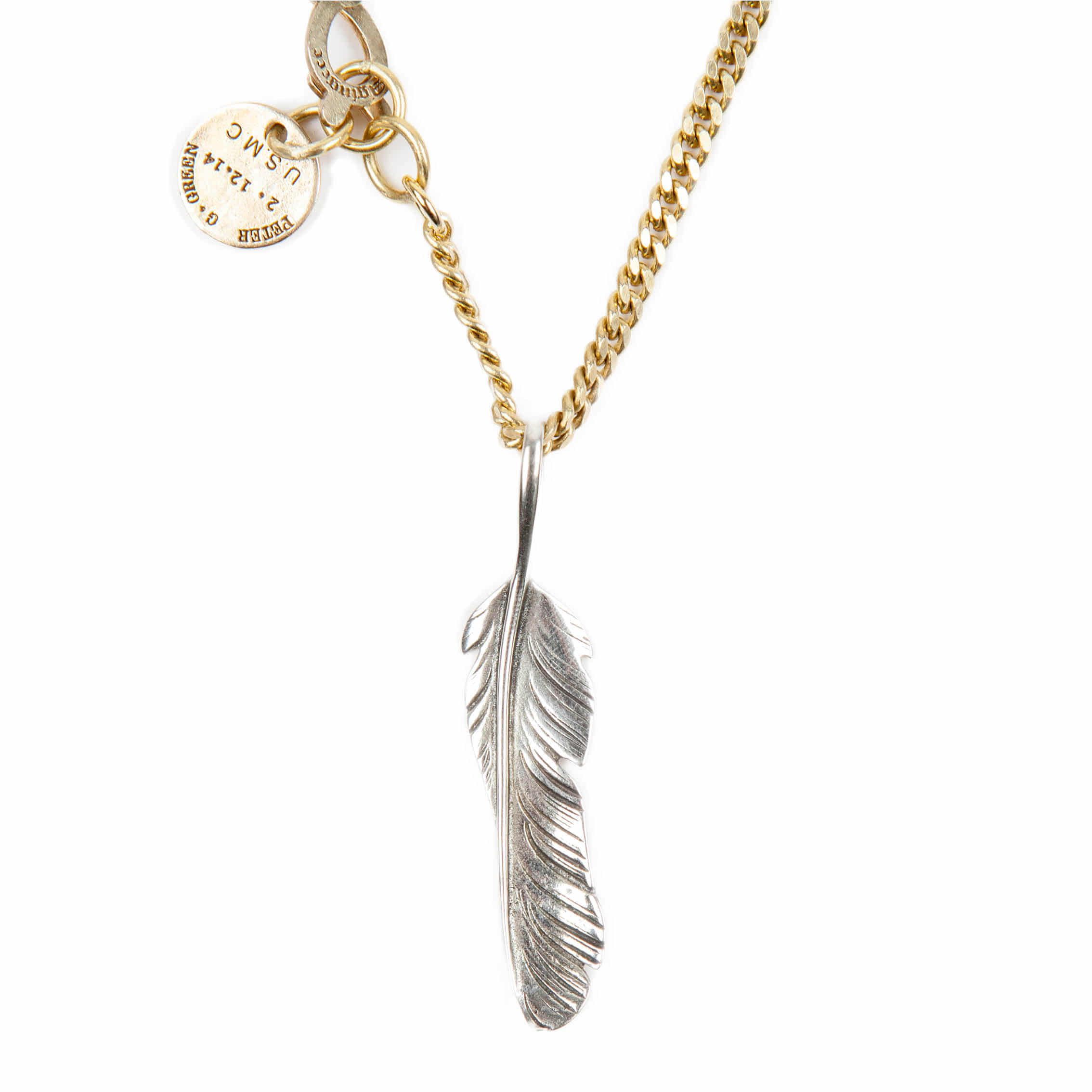 AGINGCCC - 254# SOLIDBRASS FEATHER NECKLACE-NO.1