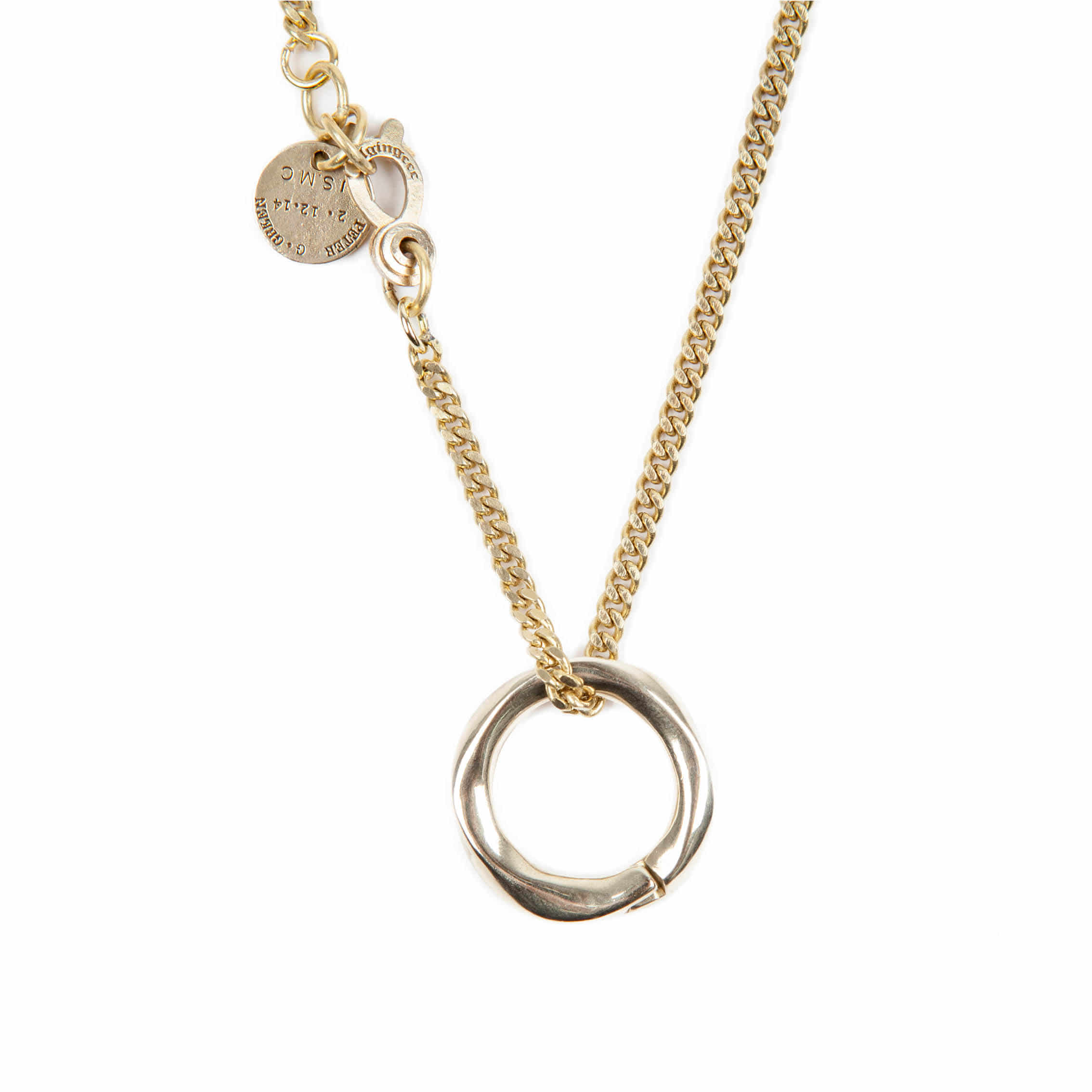 AGINGCCC - 256# SOLIDBRASS RING NECKLACE