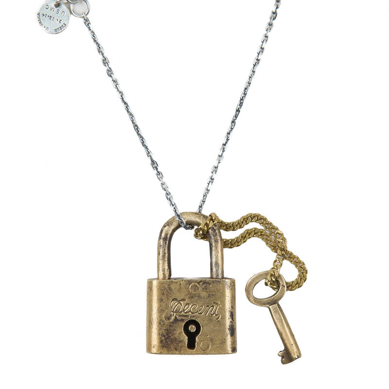 AGINGCCC - 275# SOLIDBRASS LOCK NECKLACE-NO.1