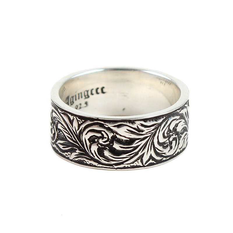 AGINGCCC - 289# 92.5 SILVER ARTNUVO RING