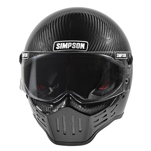 SIMPSON M30 BIKE HELMET - BLACK CARBON