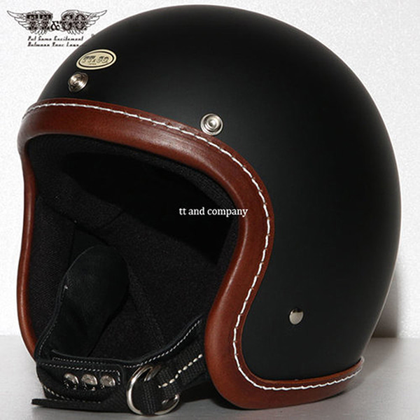 TT&CO Super Magnum Leather Rim Shot Brown - Matt Black