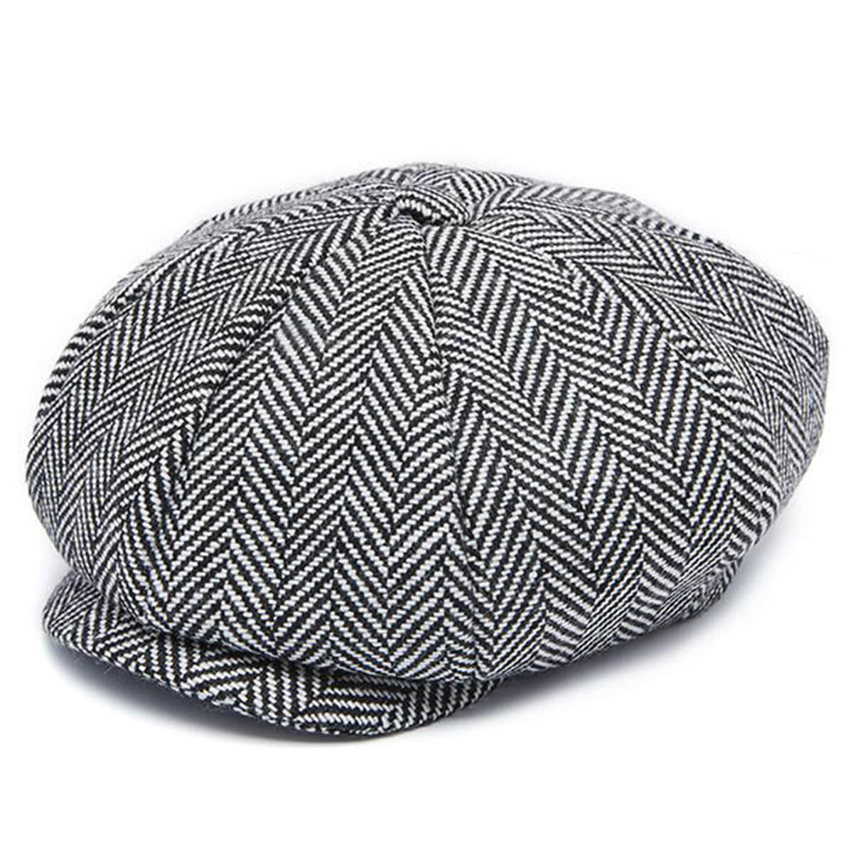 Millionairehats - wool herringbone big apple hat