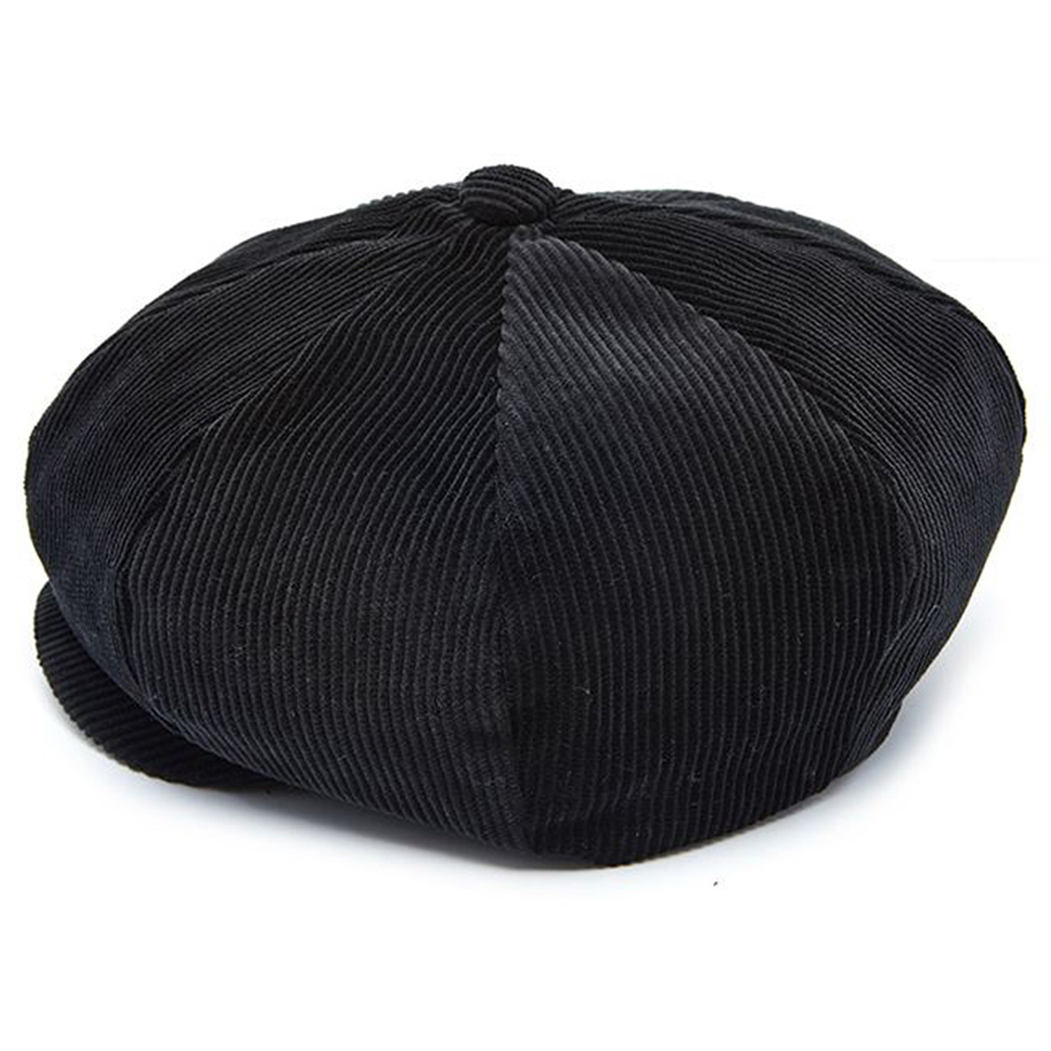 Millionairehats - needle cord big apple hat - black