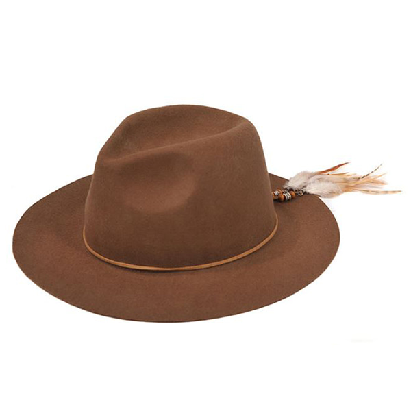 Millionairehats - 2way custom wool fedora [BEIGE]
