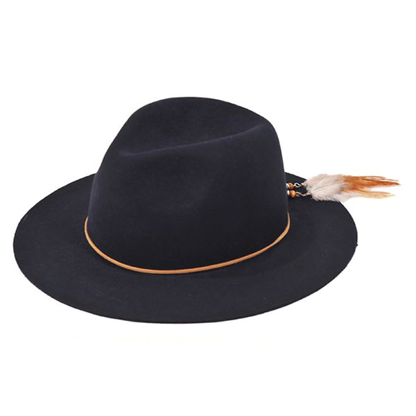 Millionairehats - 2way custom wool fedora [NAVY]