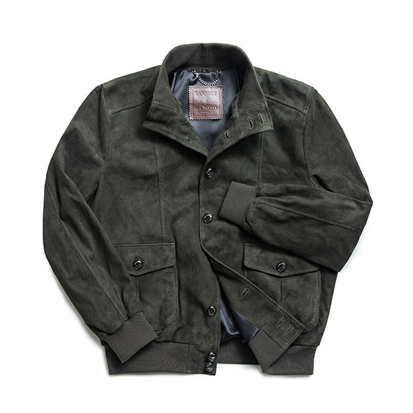 MABELLO - Suede Safari Jacket S001 Khaki