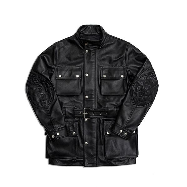 MABELLO - Leather Safari Jacket 001 Black