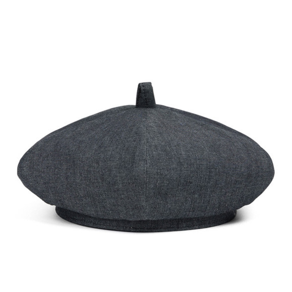 WILDBRICKS - DENIM BERET (black)