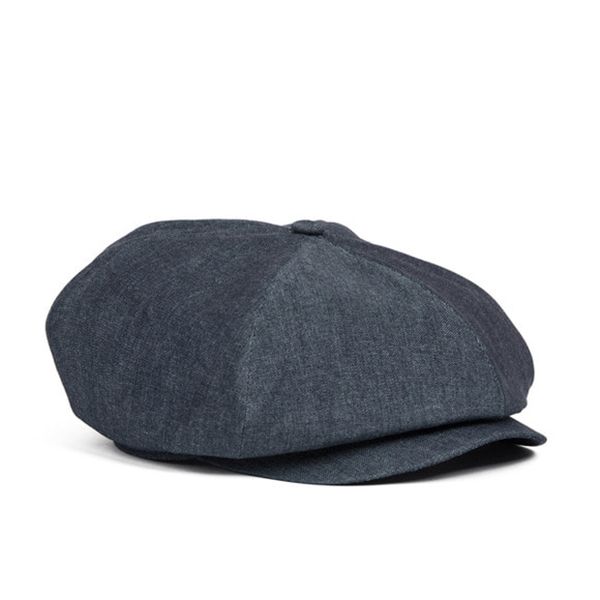 WILDBRICKS - DENIM NEWSBOY CAP (blue)