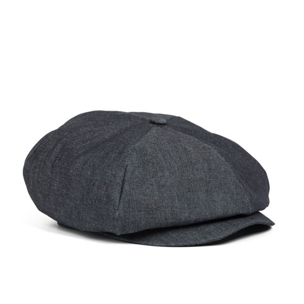 WILDBRICKS - DENIM NEWSBOY CAP (black)
