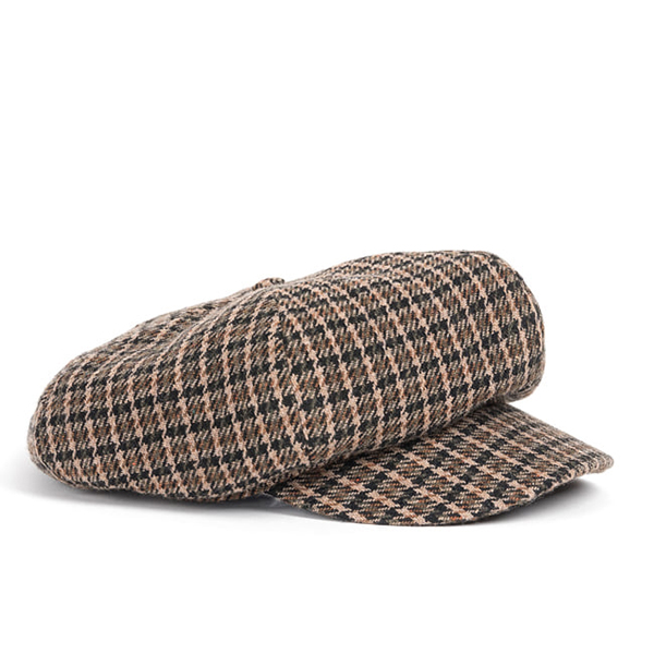 WILDBRICKS - WOOL NEWS BOY CAP (brown)