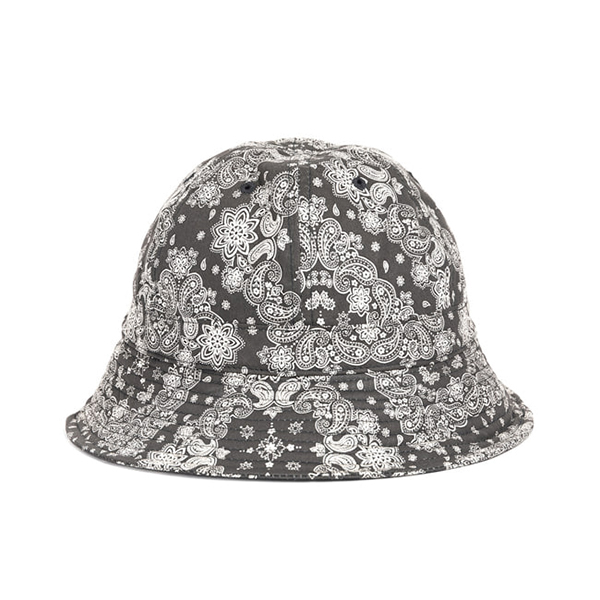 WILDBRICKS - PAISLEY BUCKET HAT (black)