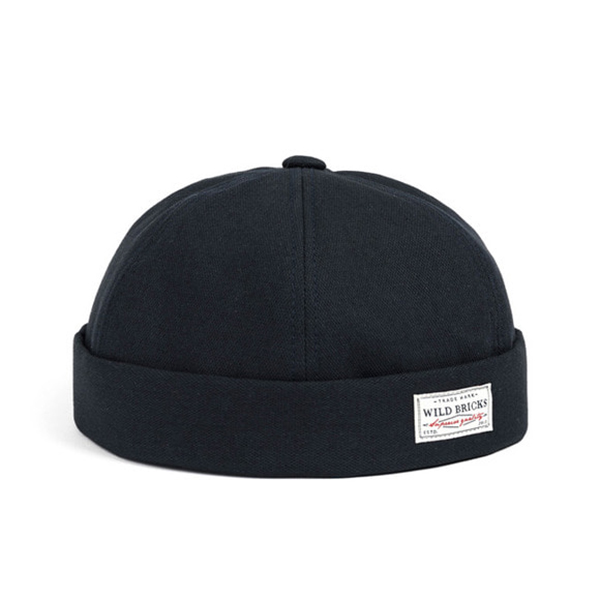 WILDBRICKS - BS BRIMLESS CAP (navy)