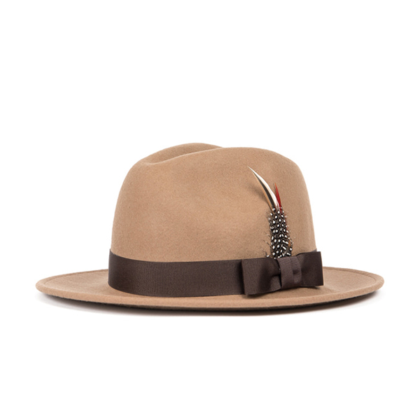 WILDBRICKS - WOOL FEDORA (beige)