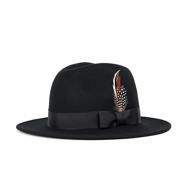 WILDBRICKS - WOOL FEDORA (black)