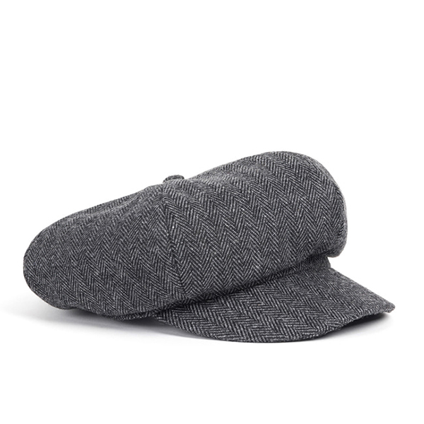 WILDBRICKS - WOOL NEWS BOY CAP (grey)