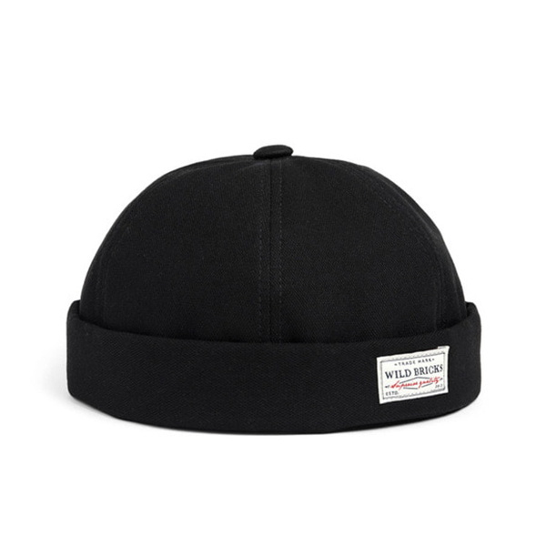 WILDBRICKS - BS BRIMLESS CAP (black)