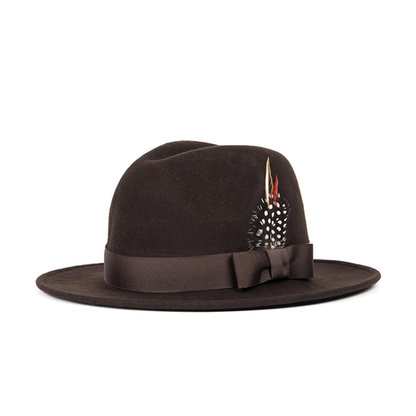 WILDBRICKS - WOOL FEDORA (brown)