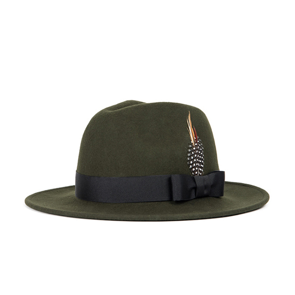 WILDBRICKS - WOOL FEDORA (khaki)