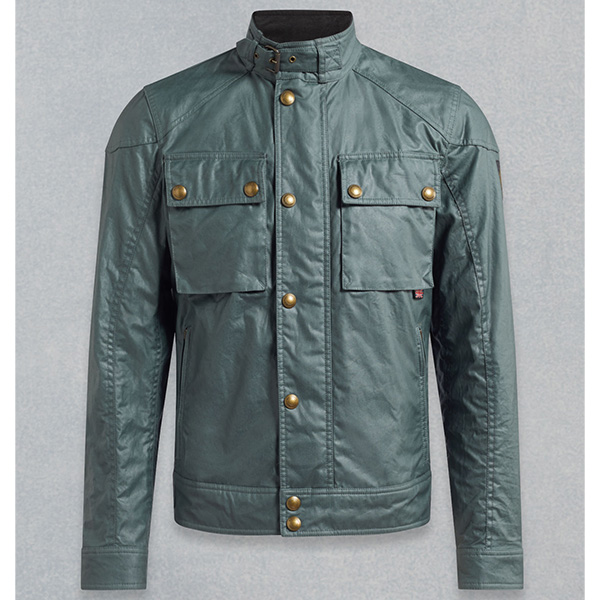 BELSTAFF RACEMASTER WAX JACKET -  BLUE FLINT