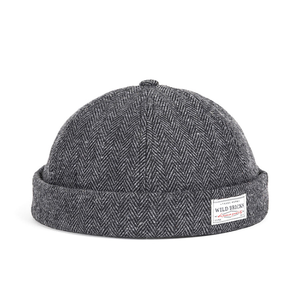 WILDBRICKS - WOOL BRIMLESS CAP (grey)