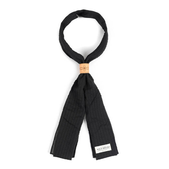 WILDBRICKS - CR STRIPE SCARF (black)