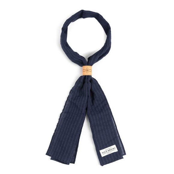 WILDBRICKS - CR STRIPE SCARF (navy)