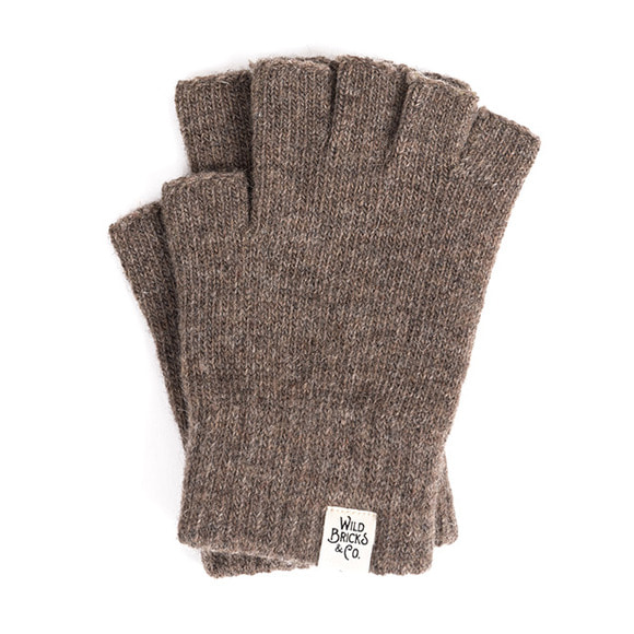 WILDBRICKS - FINGERLESS GLOVES (brown)